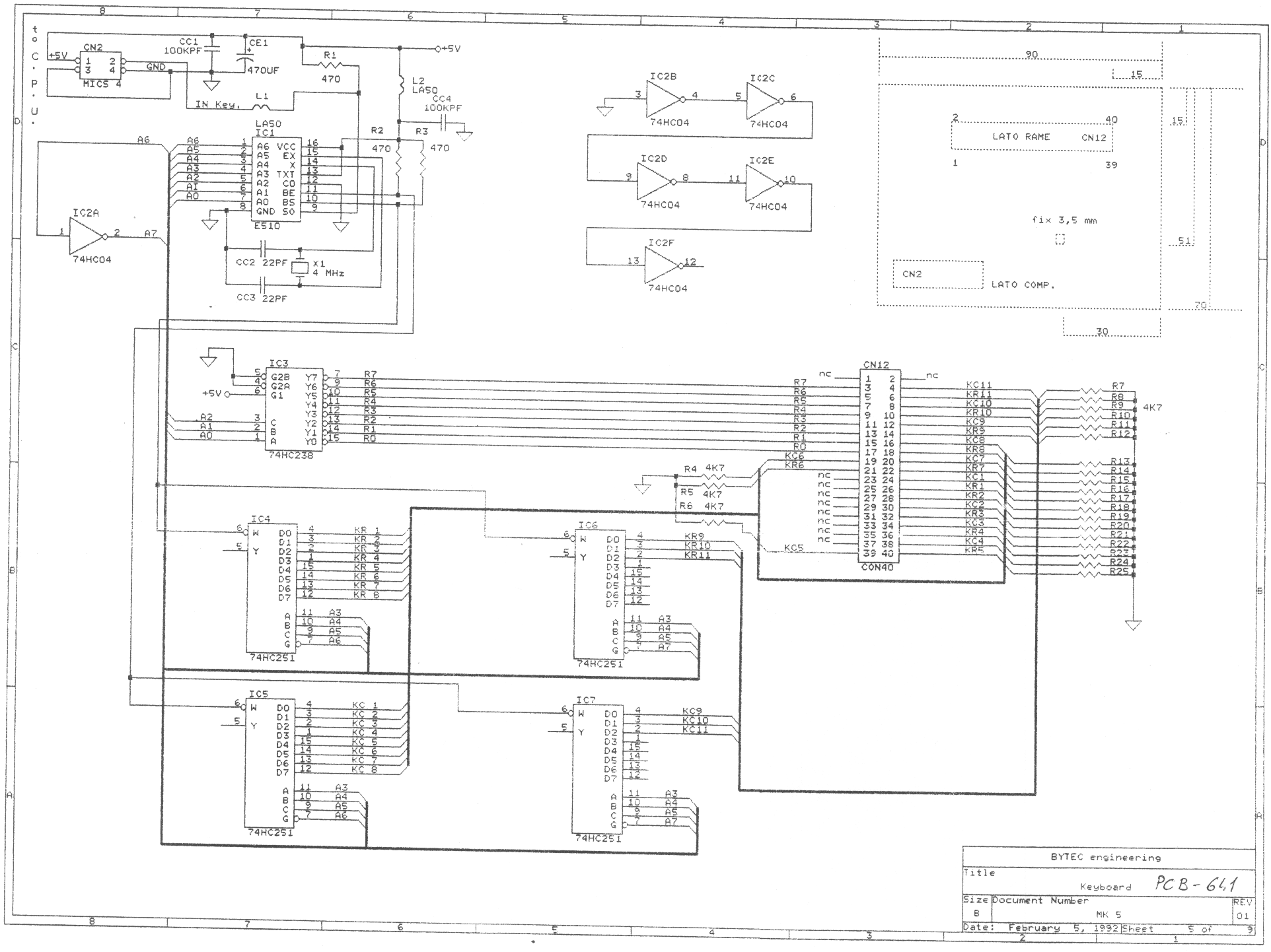 John Pallisters Lmk3 Page Googling Around I Find Schematics Like This The E510 And Decoding Logic